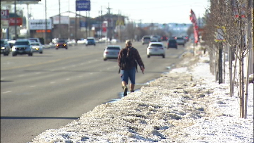 Snow covered sidewalks along Sprague causing unsafe conditions for pedestrians