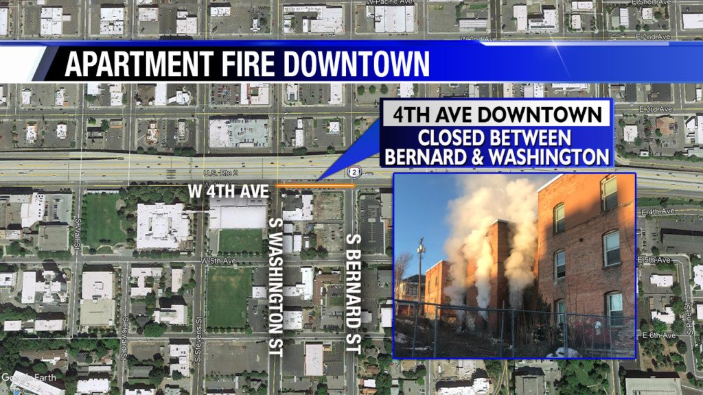 Firefighter injured battling downtown Spokane apartment fire