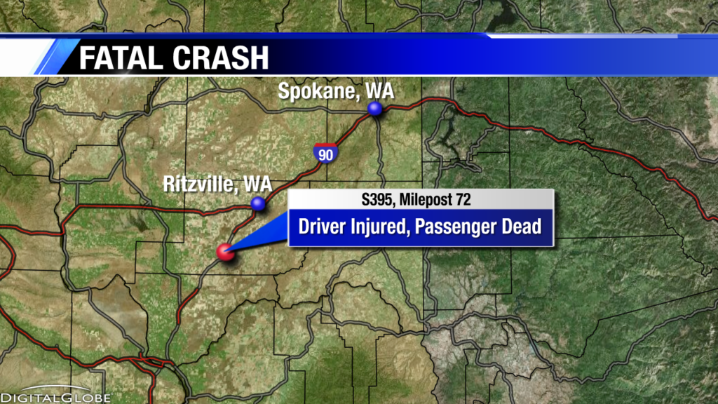 1 killed in crash south of Ritzville