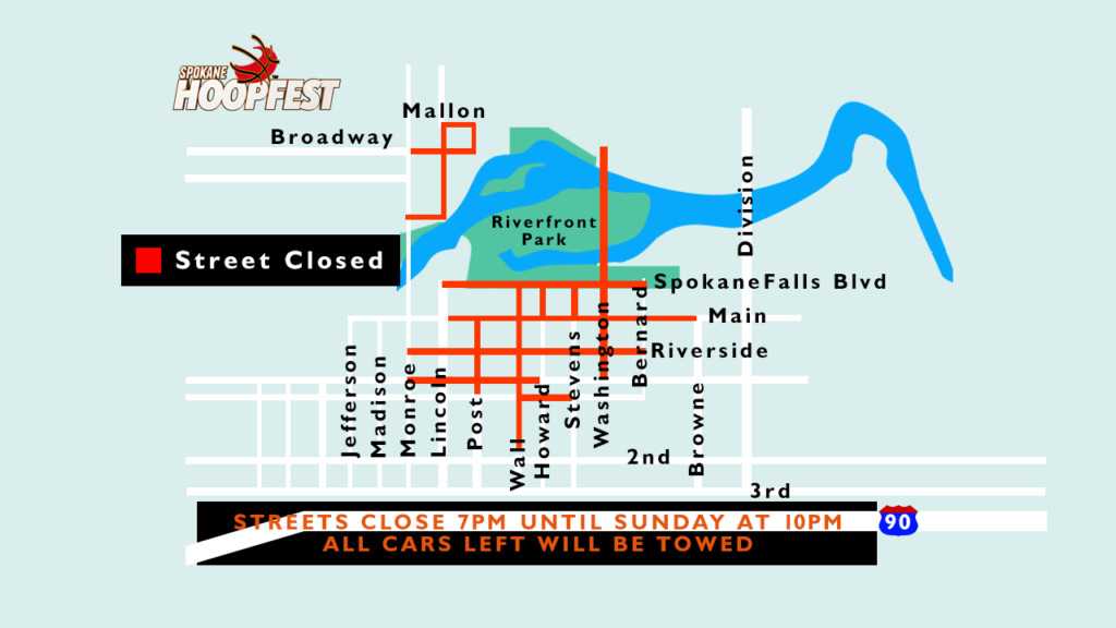 Hoopfest 2018 street closures