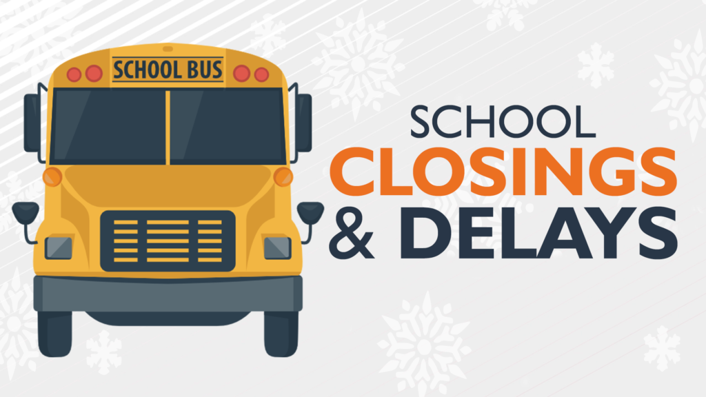 School closings and delays graphic