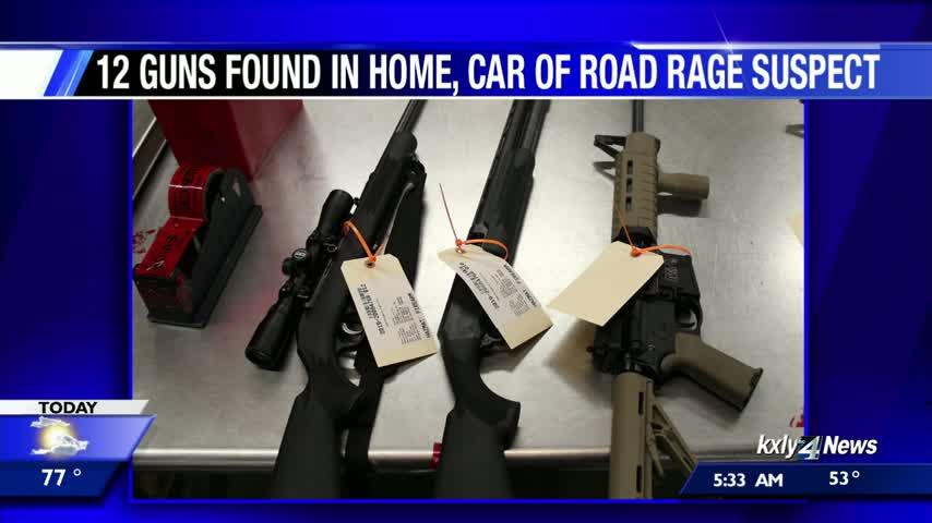 12 guns found in home of Spokane road rage suspect