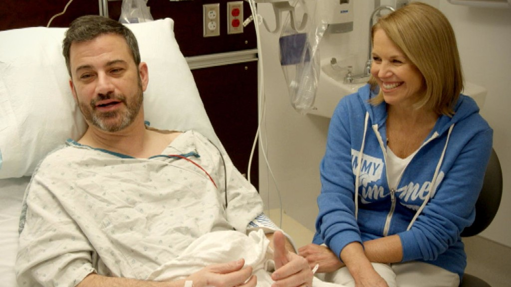 Katie Couric hilariously takes Jimmy Kimmel to get a colonoscopy