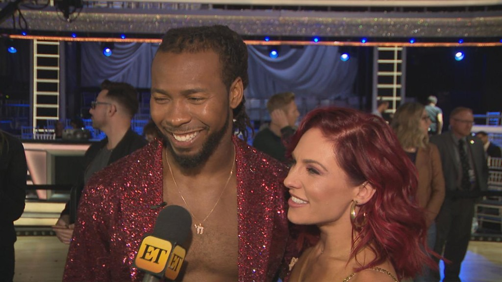 'DWTS' Sharna Burgess on why she made partner Josh Norman perform shirtless