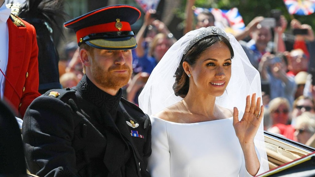 Prince Harry calls Meghan Markle his 'bride' in touching reception speech