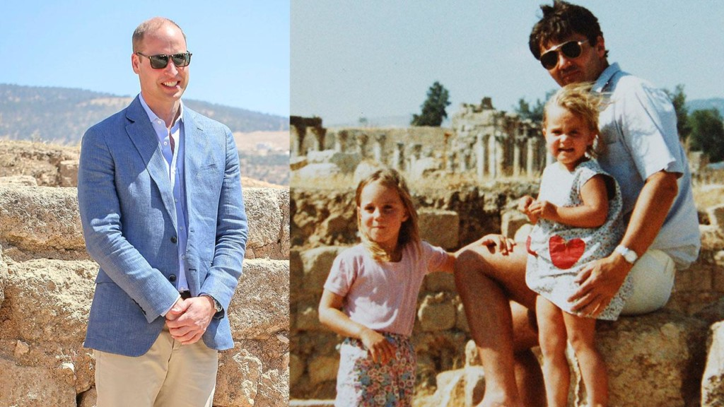 Prince William recreates Kate Middleton childhood photo during Royal Tour