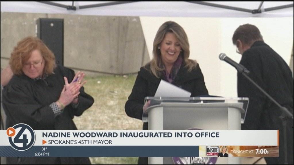 Nadine Woodward is offically sworn in as Spokane's new mayor