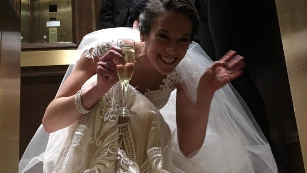 Bride gets stuck in an elevator on her wedding day