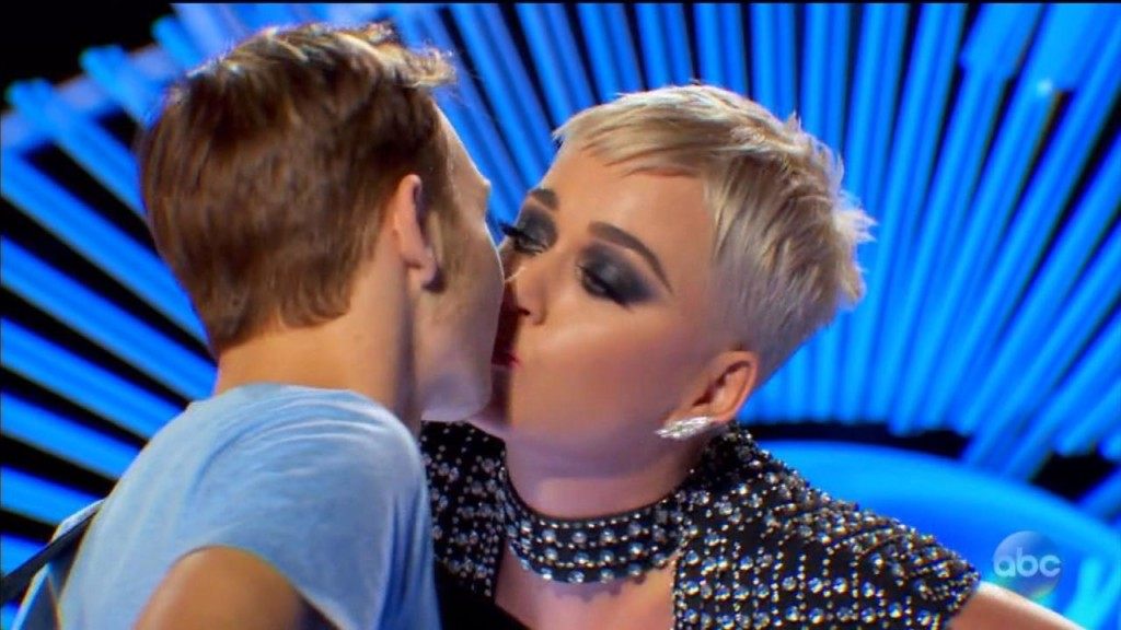"""American Idol' contestant on Katy Perry's kiss: ""she was a stranger"""