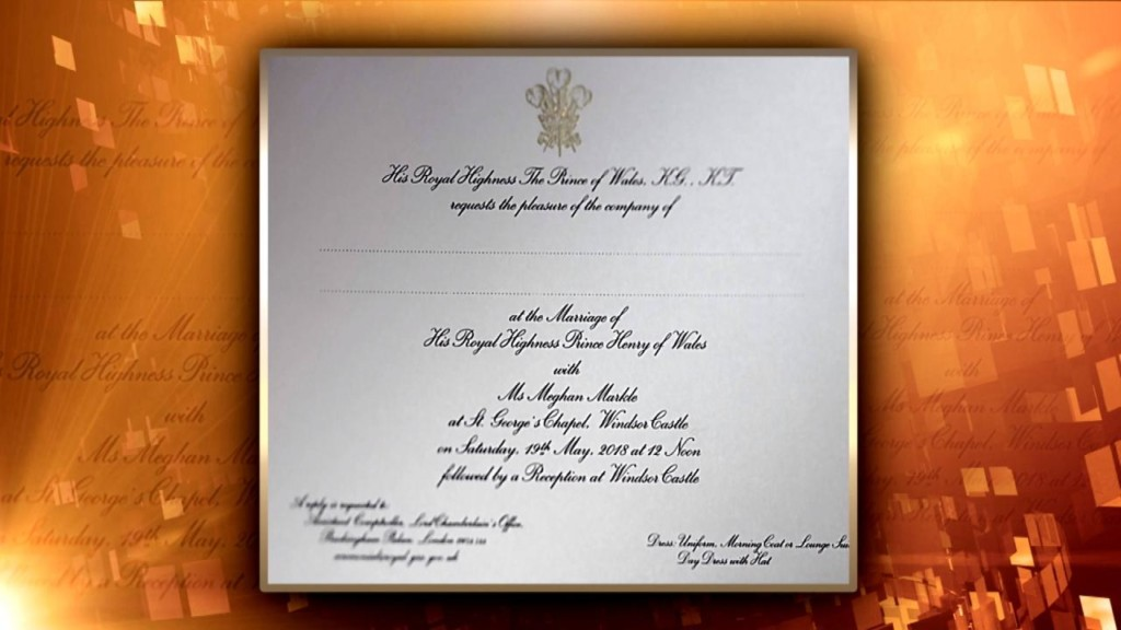 First look at the Royal Wedding invitations