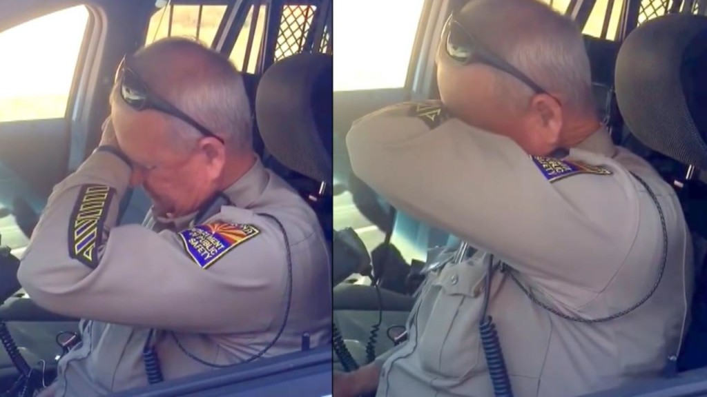 Retiring cop cries as he makes his final dispatch after 37 years