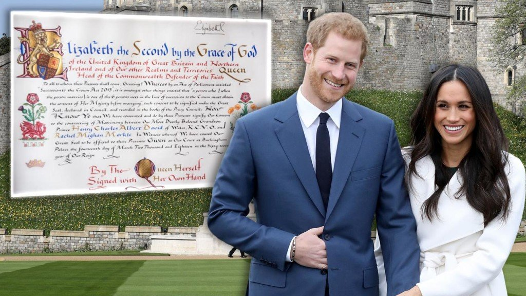Queen Elizabeth signs consent for Prince Harry to wed Meghan Markle
