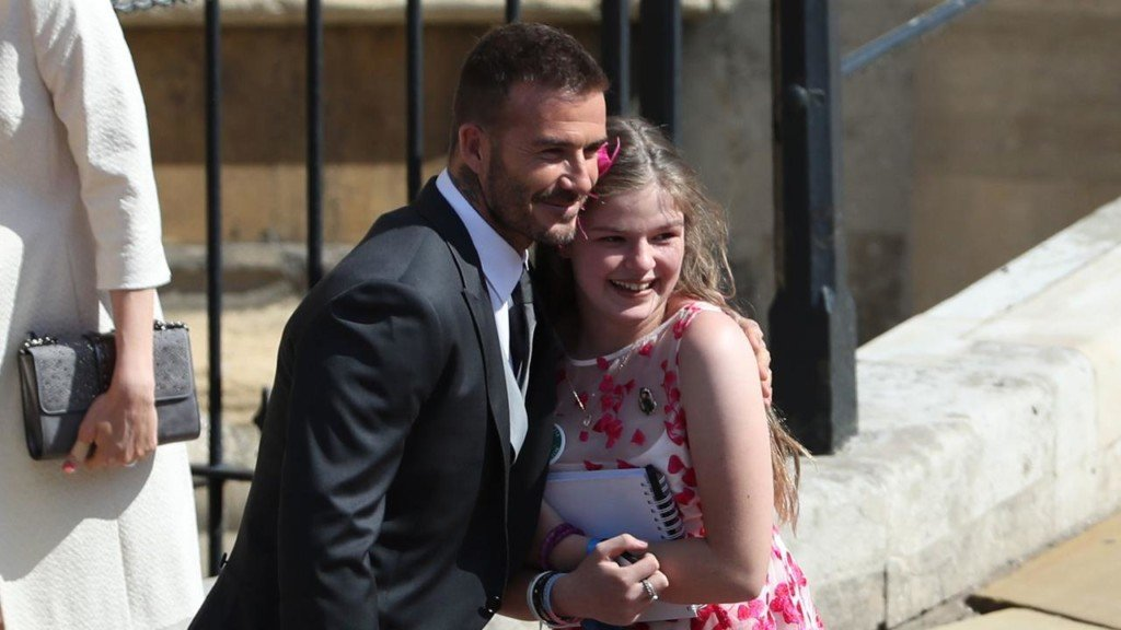 12-year-old Manchester attack survivor hugs David Beckham at Royal Wedding