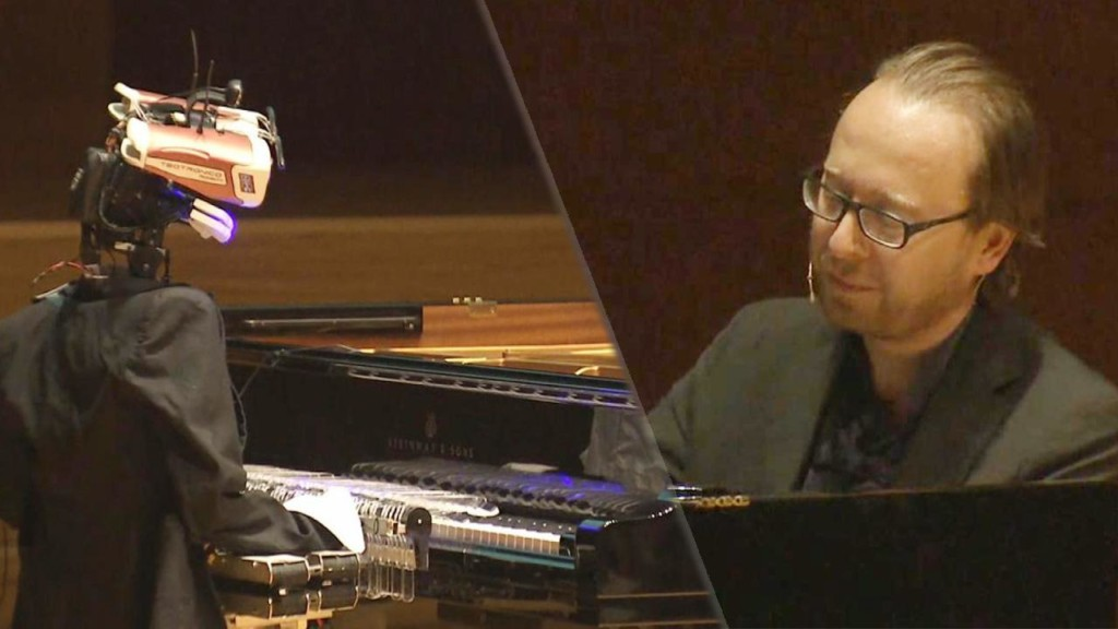 Robot and human pianists face off in musical duel