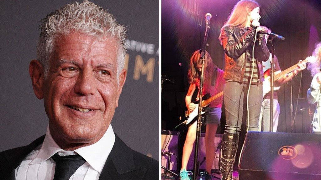 Anthony Bourdain's daughter performs at a concert days after his death