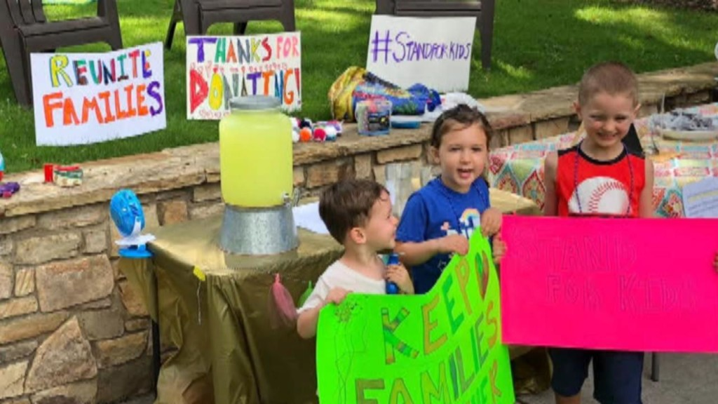 6-year-old boy's lemonade stand raises $10,000 for immigrant families