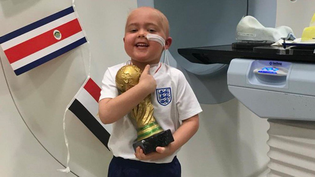 5-year-old with brain cancer awarded a special World Cup trophy for bravery