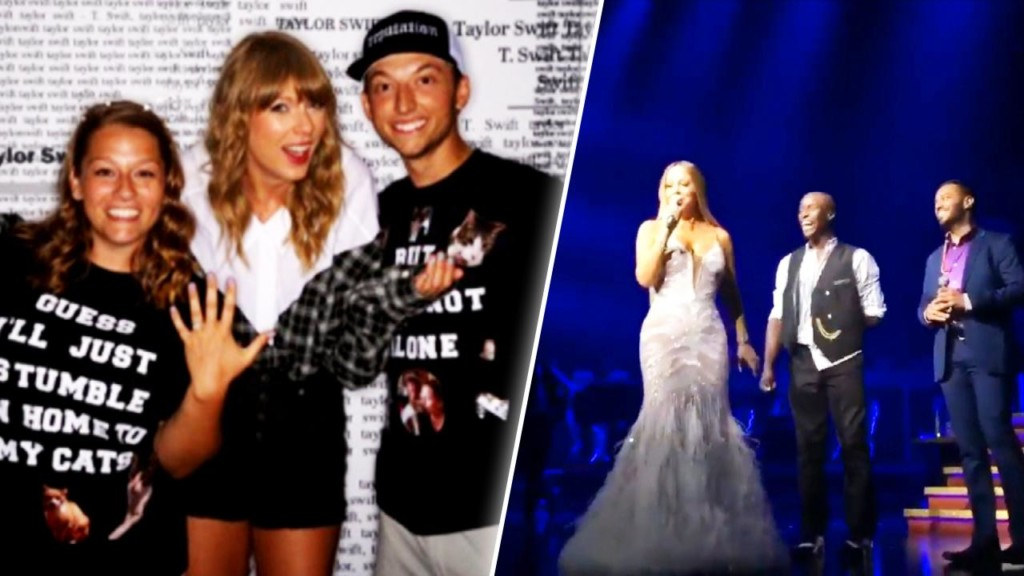 Taylor Swift and Mariah Carey help couples get engaged