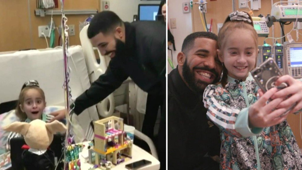 Drake surprises 11-year-old fan awaiting heart transplant