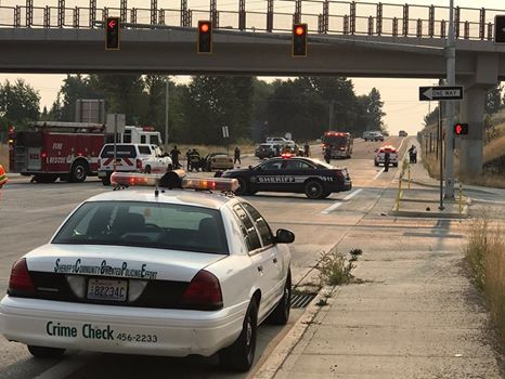 Motorcyclist taken to hospital with life-threatening injuries following crash on Farwell