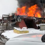 Aggressive fire burns Libby timber company building to the ground