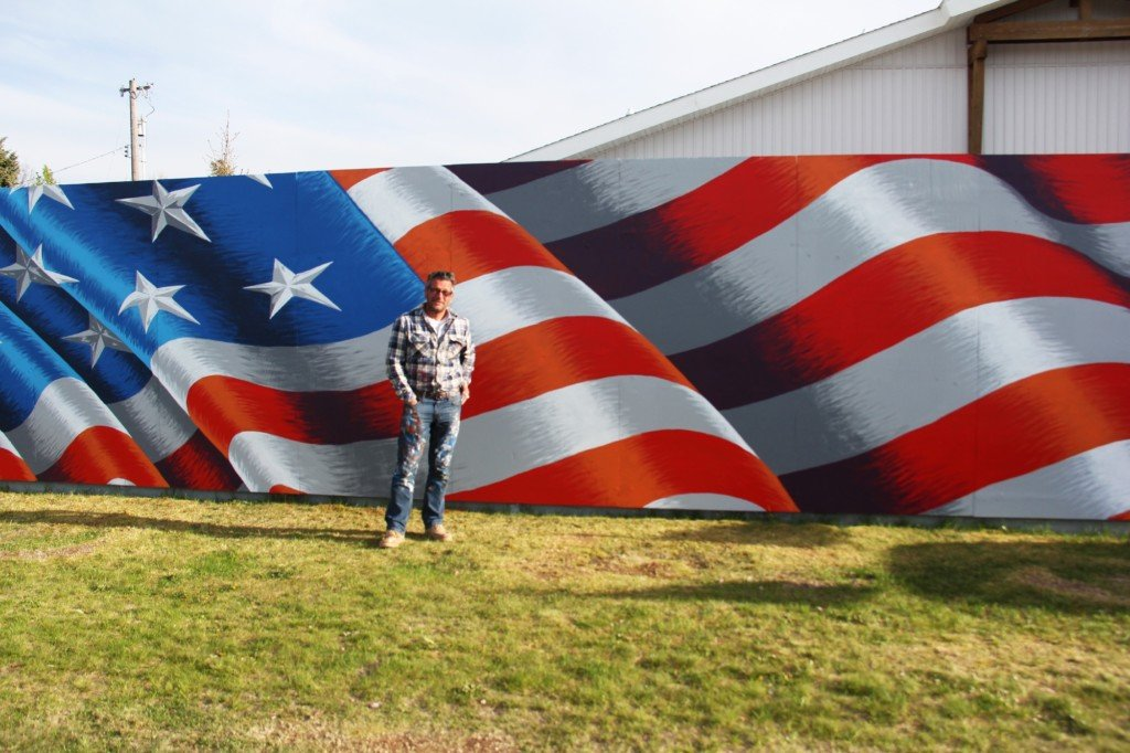 The story behind the new flag mural in Post Falls