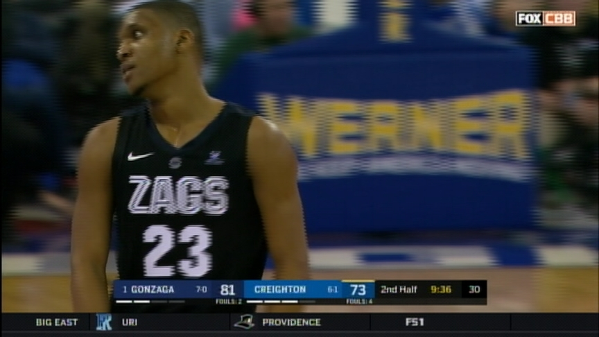 No. 1 Zags handle test at Creighton, stay undefeated at 8-0