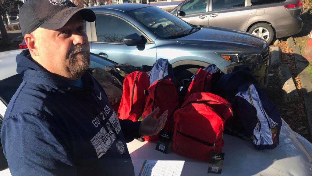 Man makes Spokane a better place one backpack at a time
