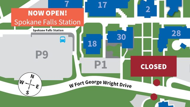 New bus stop opens near Spokane Falls Community College Monday