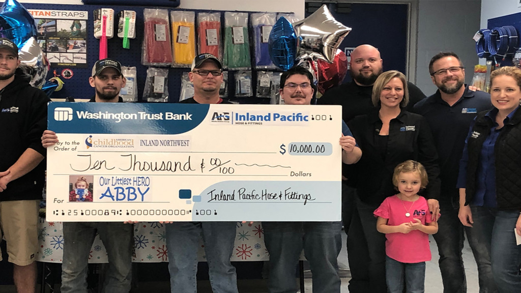 Little girl's battle with cancer inspires $10,000 donation to local charity