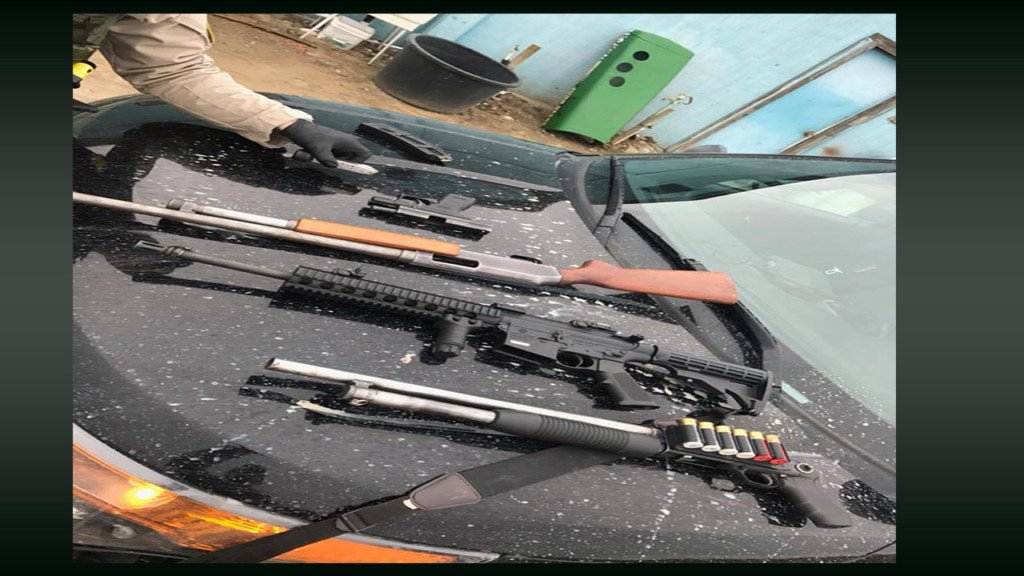 Deputies seize weapons