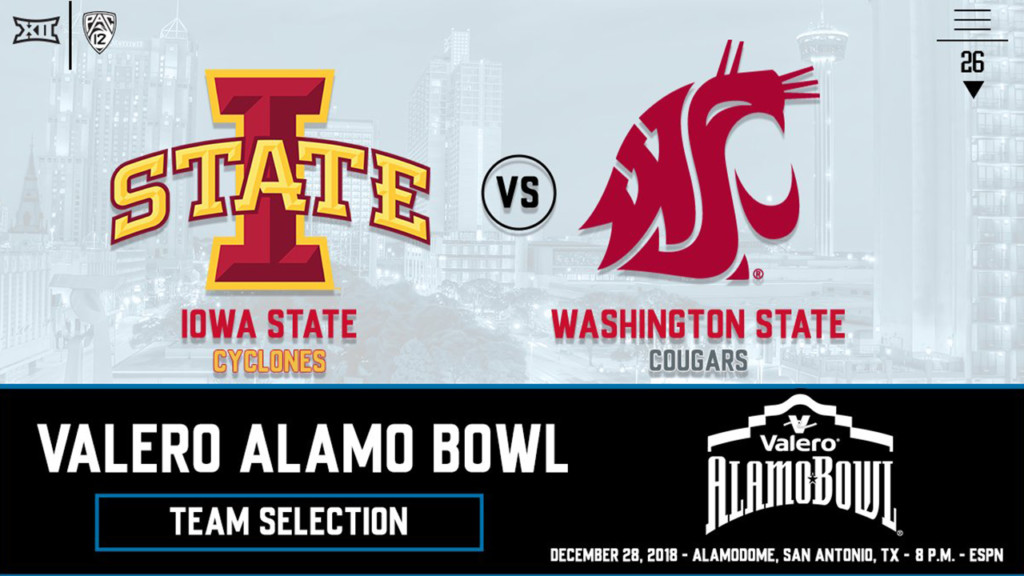 Washington State to face off with Iowa State in Alamo Bowl
