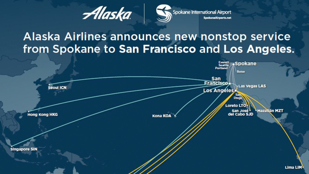 You'll soon be able to fly directly from Spokane to these California cities