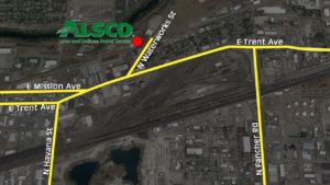 Map to Alsco