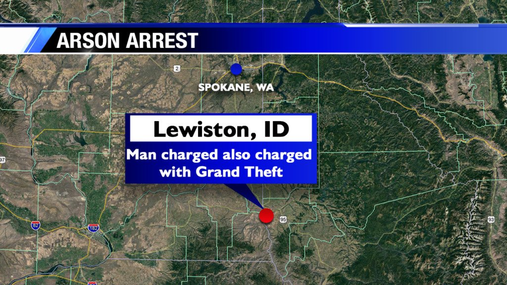 Man arrested for arson in Lewiston house fire