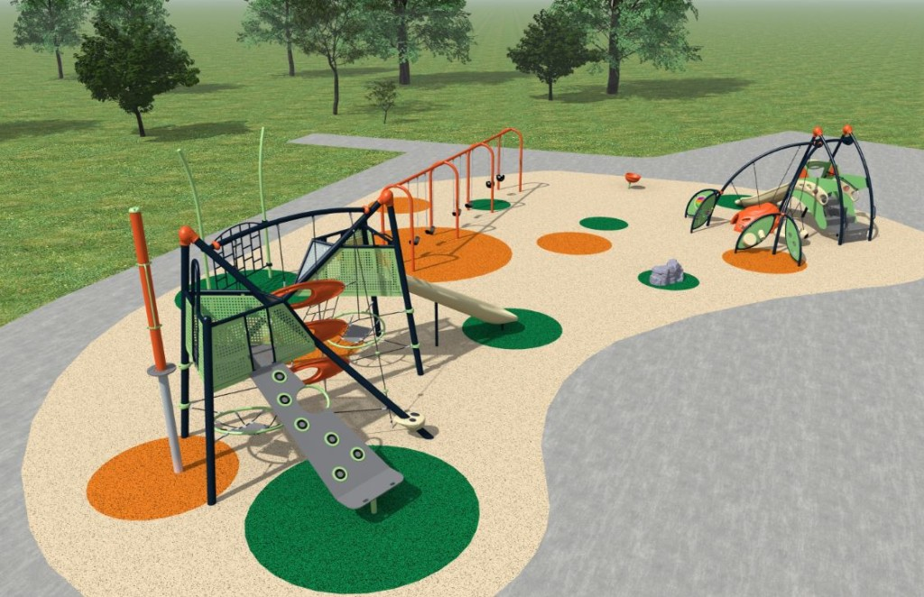 Construction underway at Southeast Sports Complex, new playground being added