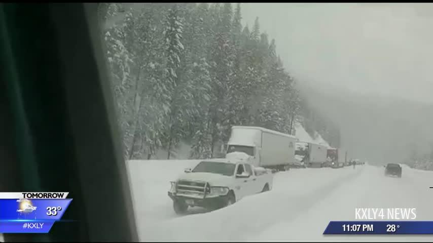 UPDATE: No estimated time for reopening Lookout Pass after four avalanches close westbound lanes