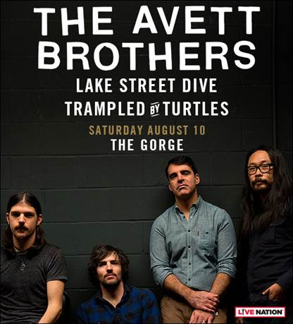 The Avett Brothers announce August concert at The Gorge Amphitheatre
