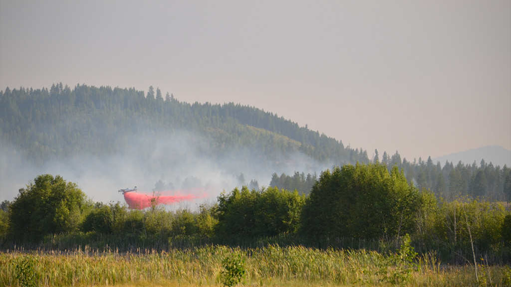 Crews contain brush fire near Spirit Lake to 140 acres