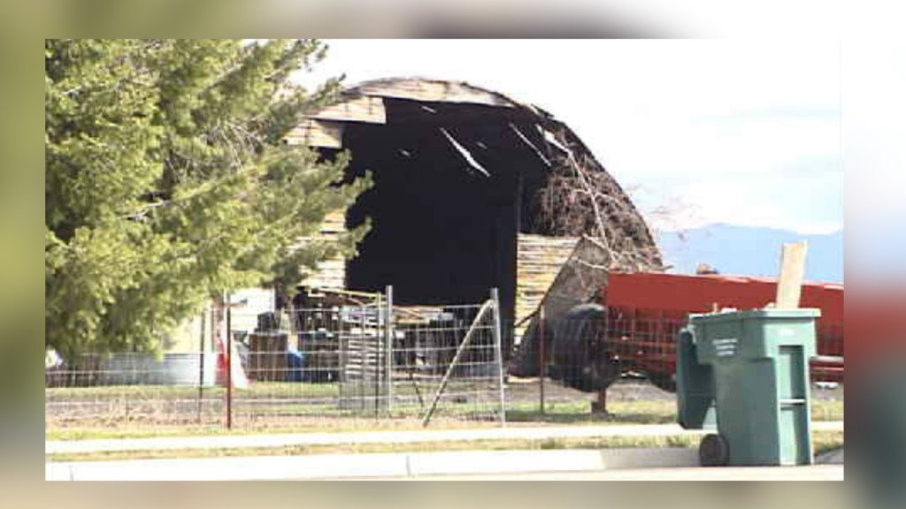 Fire consumes barn at M and E Farms