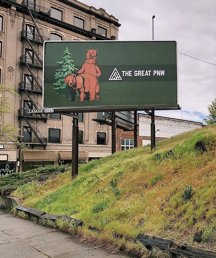 Short-lived mating bears billboard a marketing success