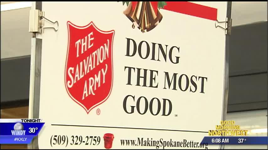 Bell Ringing for the Salvation Army Spokane helps one homeless woman find employment