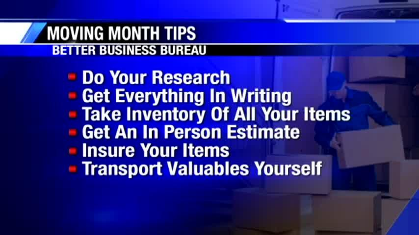 Better Business Bureau tips to avoid getting scammed when moving