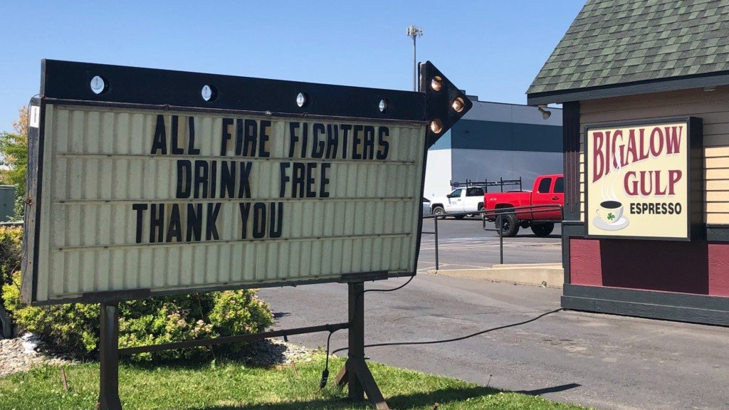 Bigalow Gulp offers free coffee for firefighters