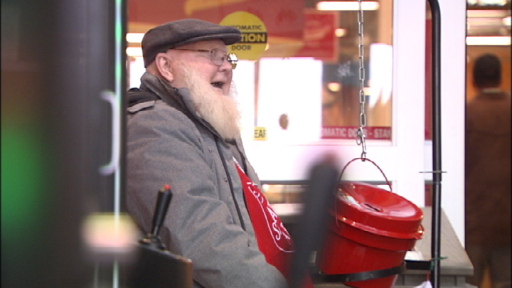 Grocery store Santa out for one last bell ring