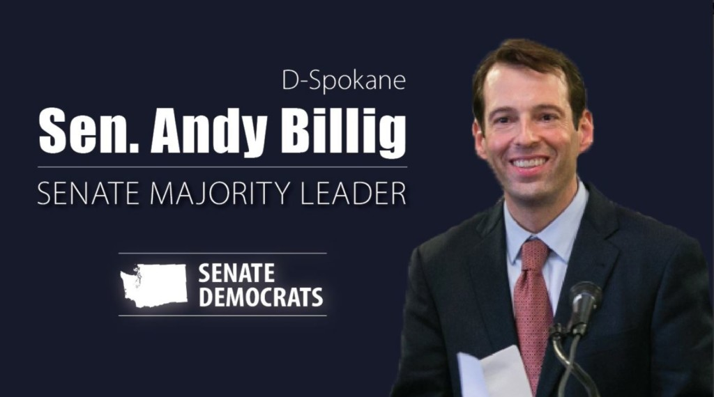 Spokane Sen. Andy Billig to lead Washington Senate