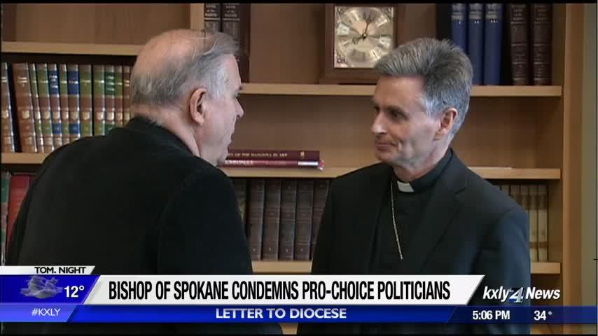 Bishop of Spokane says pro-choice politicians should not be allowed to receive communion