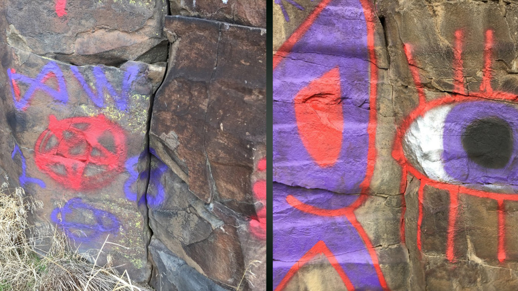 BLM pays out reward in Black Cliffs graffiti case