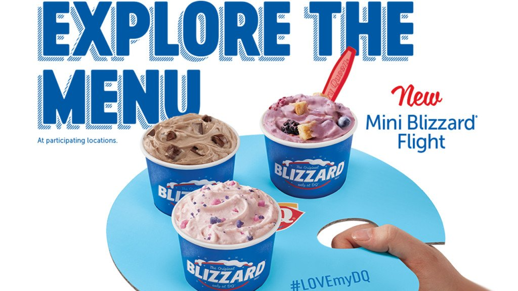 DQ is offering Blizzard Flights through the month of May