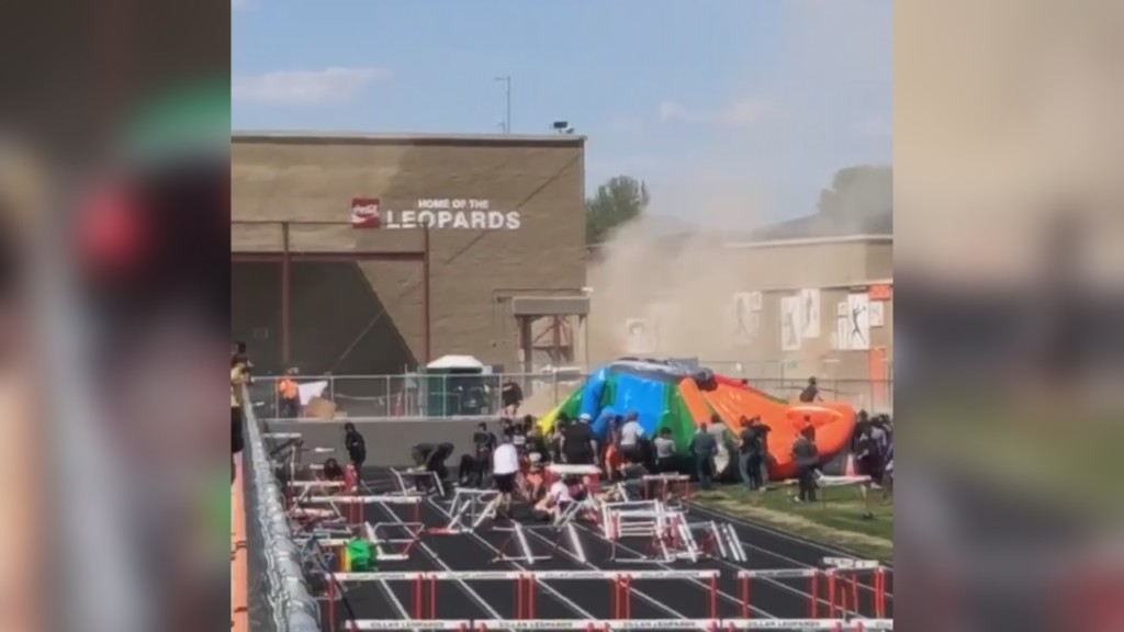 Zillah police: Safety protocols met before dust devil sent bounce house-like game flying
